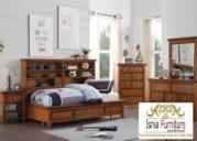 Kamar Set Jati Tempat Tidur Anak Laki-laki Minimalis Berlaci