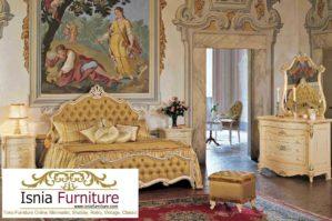 Set Kamar Tidur Bunga Mewah Ukir Klasik Terbaru Eropa