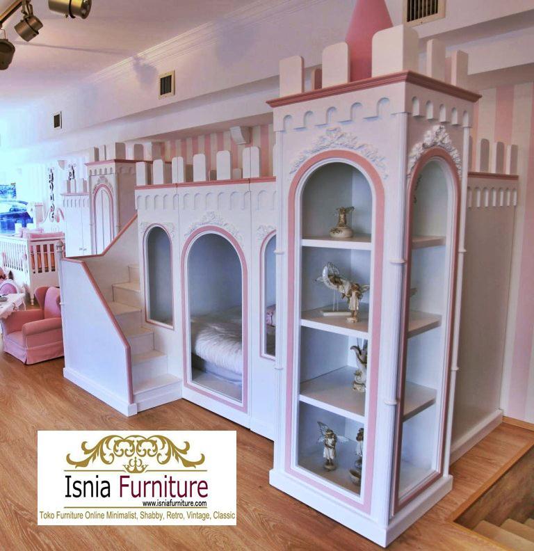 Set-Kamr-Anak-Perempuan-Model-Tempat-Tidur-Istana-Tingkat Set Kamar Anak Perempuan Model Tempat Tidur Istana Tingkat