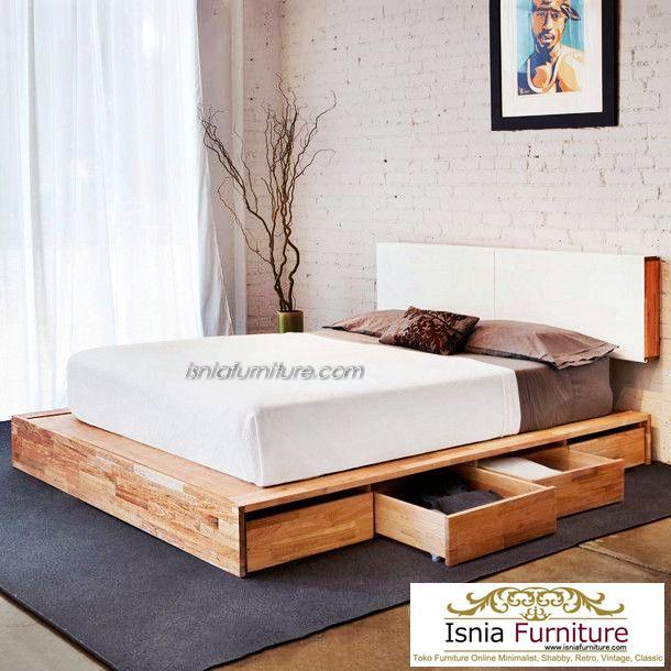 Tempat-Tidur-Laci-Murah-Kotak-Penyimpanan-Minimalis-Modern Tempat Tidur Laci Murah Kotak Penyimpanan Minimalis Modern
