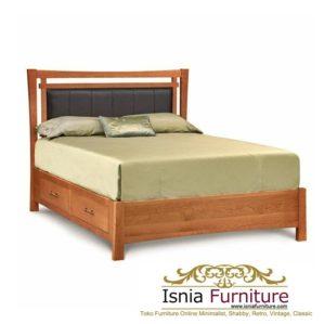 Dipan Jati Model Tempat Tidur Laci Minimalis Modern