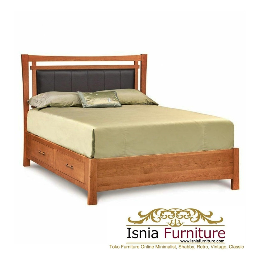 dipan-laci-jati-minimalis Dipan Jati Model Tempat Tidur Laci Minimalis Modern