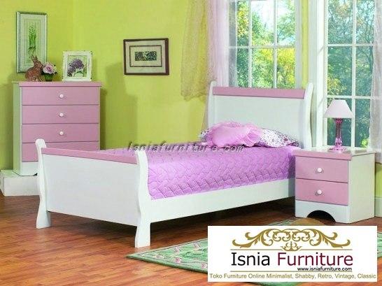tempat-tidur-anak-perempuan-minimalis Dipan Tempat Tidur Anak Perempuan Minimalis Pinky White