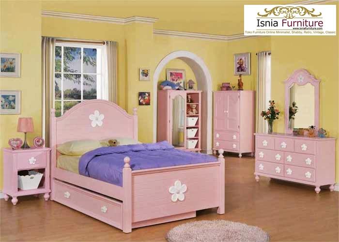 set-kamar-anak-perempuan-minimalis Set Kamar Anak Perempuan Banten Minimalis Tempat Tidur Sorong