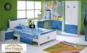 Jual Set Kamar Anak Perempuan Bandung Blue White