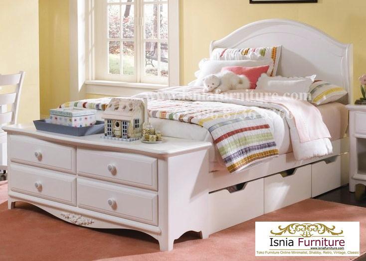 tempat-tidur-laci-bawah-minimalis Jual Tempat Tidur Laci Bawah Minimalis Modern White