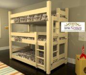 Jual Tempat Tidur 3 Tingkat Minimalis Kayu Jati Harga Murah