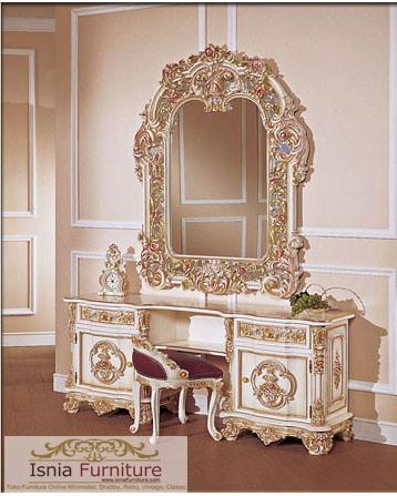 meja-rias-mewah-ukir-klasik Meja Rias Mewah Palembang Ukir Klasik Duco Kombinasi