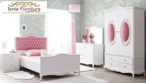 Set Kamar Anak Perempuan Minimalis Madiun Putih Pink
