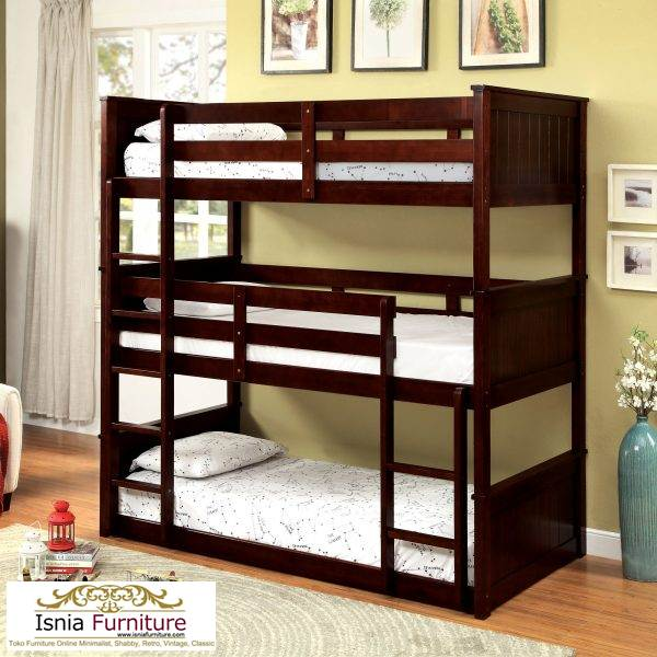 tempat-tidur-3-tingkat-minimalis Jual Tempat Tidur 3 Tingkat Minimalis Kayu Jati Harga Murah