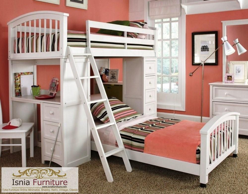 tempat-tidur-tingkat-duco-minimalis Jual Tempat Tidur Tingkat Kota Palembang Cat Duco Minimalis