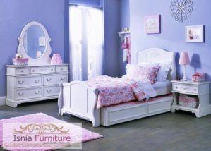 Jual Tempat Tidur Anak Sorong Duco Mewah Warna Putih