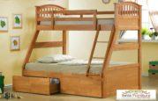 Set Kamar Tidur Anak Ranjang Tingkat Minimalis Kayu Jati Murah