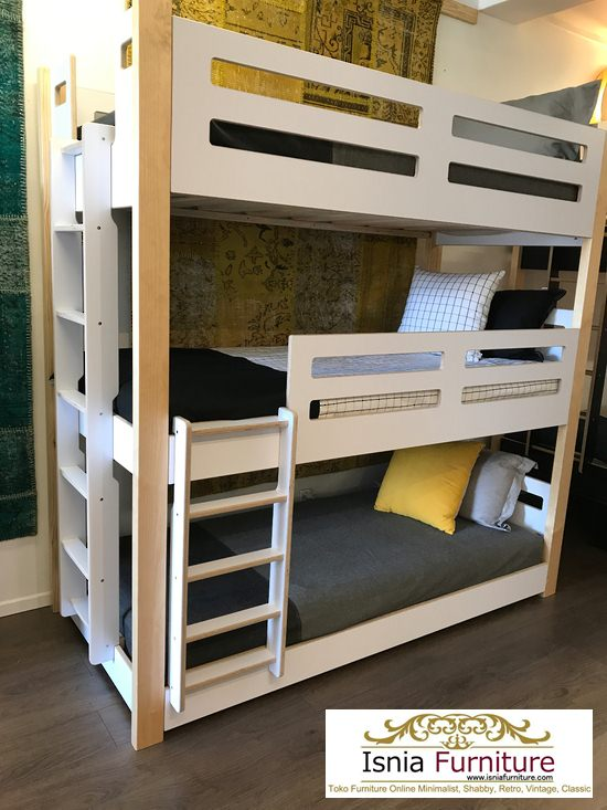 tempat-tidur-tingkat-3-kayu-minimalis 79 Model Ranjang Tempat Tidur Tingkat Kayu Minimalis Harga Murah