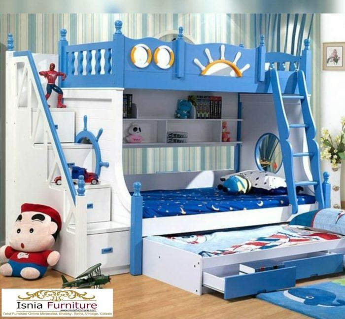 tempat-tidur-tingkat-anak-laki-laki-700x647 79 Model Ranjang Tempat Tidur Tingkat Kayu Minimalis Harga Murah