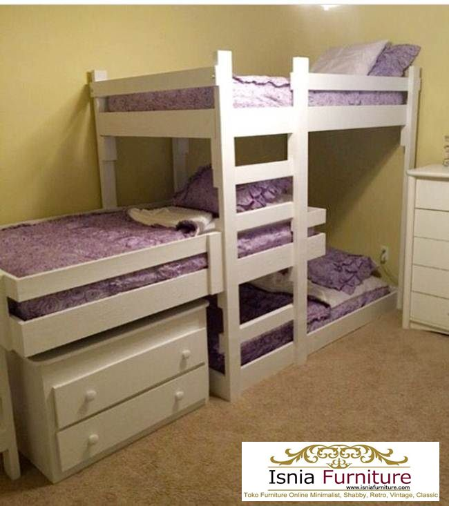 tempat-tidur-tingkat-kayu-susun-3 79 Model Ranjang Tempat Tidur Tingkat Kayu Minimalis Harga Murah