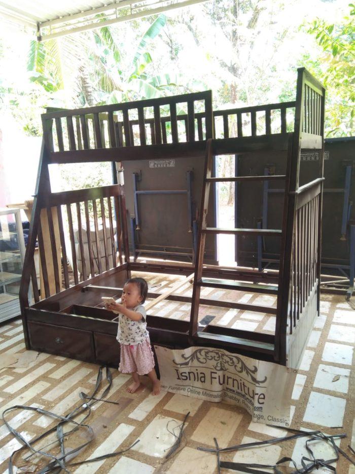tempat-tidur-tingkat-minimalis-kayu-berlaci-700x933 Jual Tempat Tidur Anak Tingkat Kayu Minimalis Model Laci