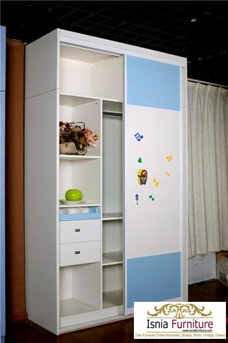 lemari-kayu-minimalis-untuk-anak-model-sliding Jual Lemari Kayu Minimalis Sliding Untuk Anak Termurah