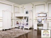 Set Kamar Tidur Tingkat Kayu Duco Putih Modern Minimalis