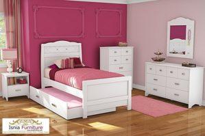 Tempat Tidur Sorong Minimalis Putih Untuk Anak Perempuan