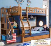 Jual Tempat Tidur Tingkat Kayu Minimalis Untuk Anak Laki-laki