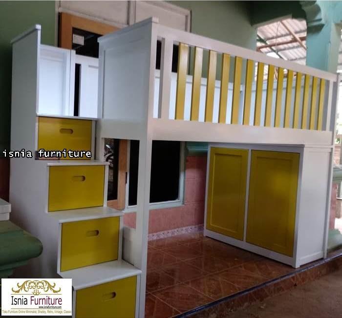 ranjang-kayu-tingkat-anak-700x652 Ranjang Susun Anak Set Lemari Bahan Kayu Harga Murah