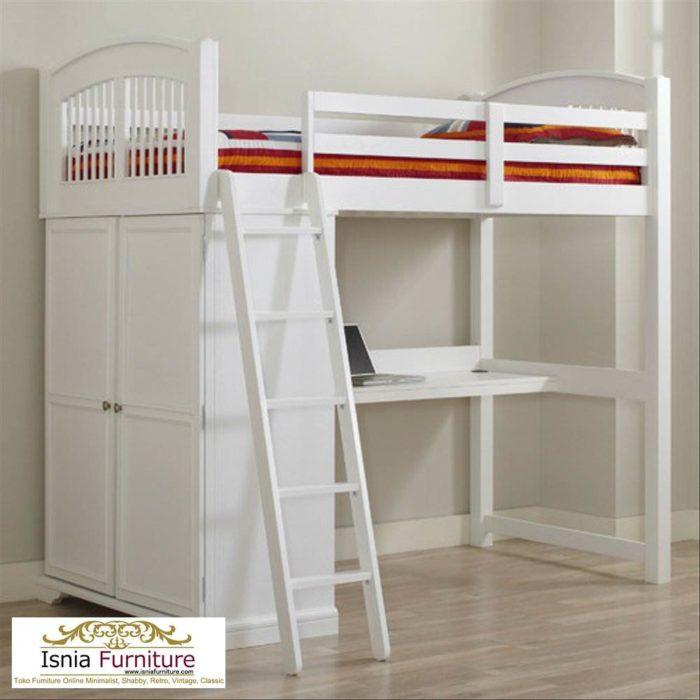 tempat-tidur-susun-kayu-modern-700x700 Ranjang Susun Anak Set Lemari Bahan Kayu Harga Murah