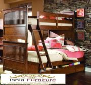 Jual Tempat Tidur Tingkat Jati Klasik Kayu Solid Murah Terlaris