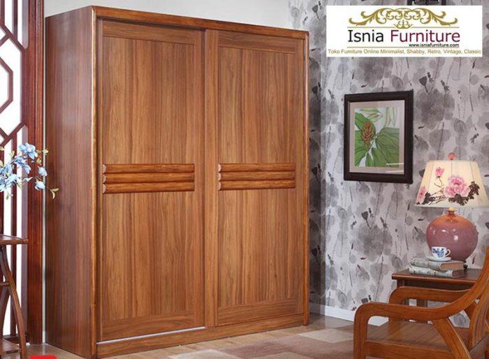 lemari-pakaian-jati-minimalis-sliding-700x514 Jual Lemari Jati 2 Pintu Minimalis 2020 Model Terbaru