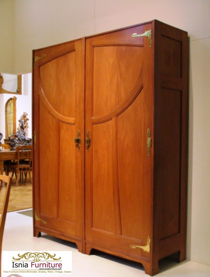 lemari-pakaian-jati-minimalis Jual Lemari Jati 2 Pintu Minimalis 2020 Model Terbaru