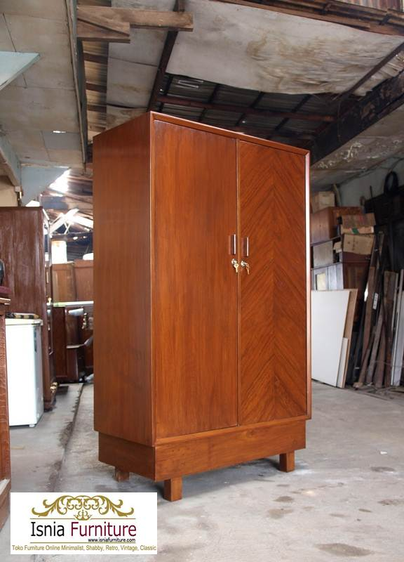 lemari-pakaian-kayu-jati-minimalis Jual Lemari Jati 2 Pintu Minimalis 2020 Model Terbaru