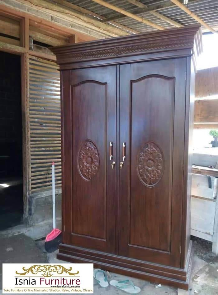 lemari-pakaian-minimalis-jati-700x945 Jual Lemari Jati 2 Pintu Minimalis 2020 Model Terbaru