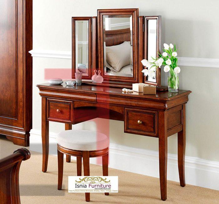 meja-rias-kayu-jati-minimalis-700x652 Jual Meja Rias Kayu Minimalis Modern 2020 Model Baru