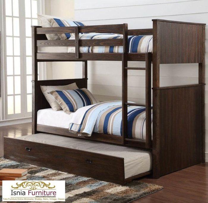 ranjang-tingkat-minimalis-kayu-jati-700x682 Dipan Tingkat Kayu Jati Modern Minimalis 2020 Untuk Anak
