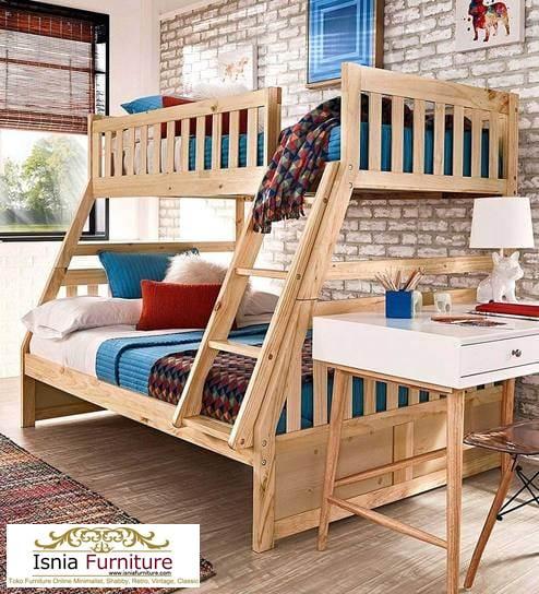 tempat-tidur-tingkat-jati Dipan Tingkat Kayu Jati Modern Minimalis 2020 Untuk Anak