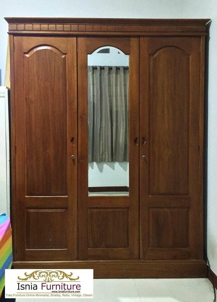 lemari-3-pintu-jati-700x972 Lemari 3 Pintu Kayu Jati Model Minimalis Untuk Baju Anak