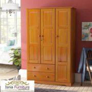 Lemari 3 Pintu Kayu Jati Model Minimalis Untuk Baju Anak