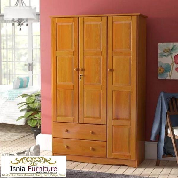 lemari-pakaian-jati-3-pintu Lemari 3 Pintu Kayu Jati Model Minimalis Untuk Baju Anak