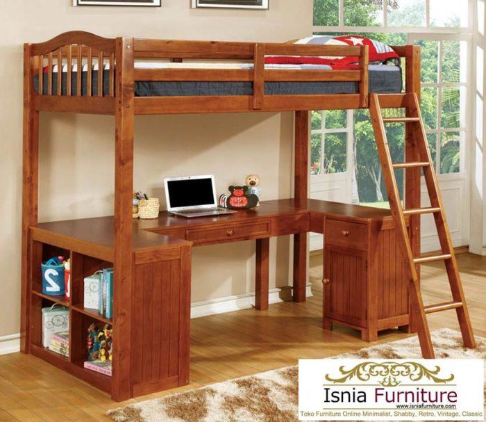 tempat-tidur-anak-tingkat-dan-meja-belajar-700x607 Jual Model Tempat Tidur Tingkat Bawahnya Meja Belajar