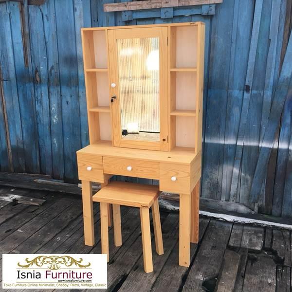 meja-rias-kayu-jati-minimalis Jual Meja Rias Jati Belanda Model Minimalis Harga Murah