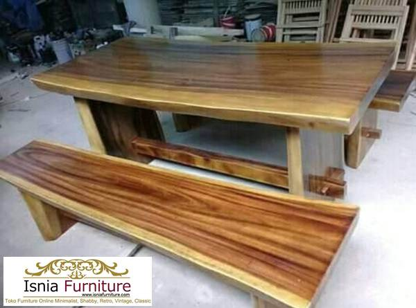 set-meja-makan-kayu-trembesi Jual Murah Meja Makan Trembesi Jakarta Kayu Solid