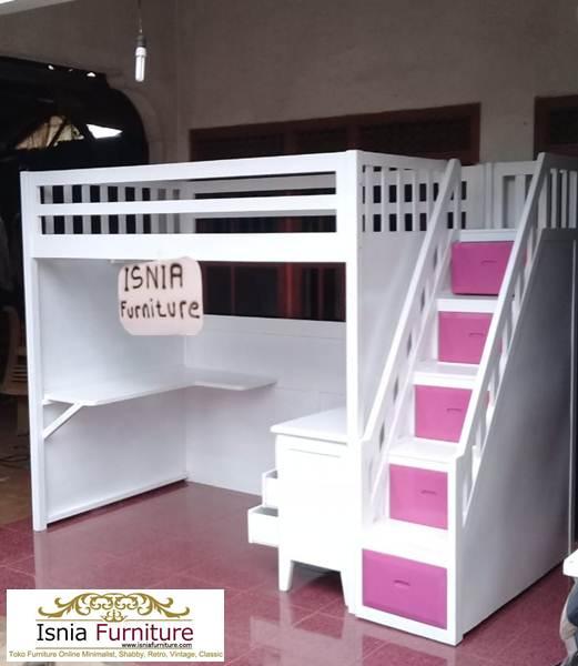 tempat-tidur-tingkat-ada-meja-belajar-di-bawah 79 Model Ranjang Tempat Tidur Tingkat Kayu Minimalis Harga Murah