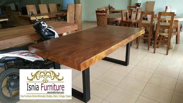 meja-trembesi-solid-sisi-lurus Meja Trembesi Sisi Lurus/Flat Desain Untuk Ruang Makan Modern