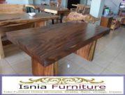 Meja Trembesi Sisi Lurus/Flat Desain Untuk Ruang Makan Modern