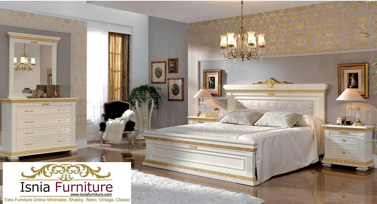Jual Set Kamar Tidur Jakarta Mewah White Gold
