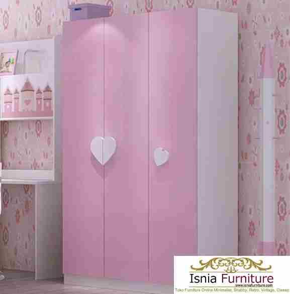 Lemari-Pakaian-Anak-Perempuan-cantik Lemari Pakaian Anak Tangerang Perempuan Putih Pink Cantik
