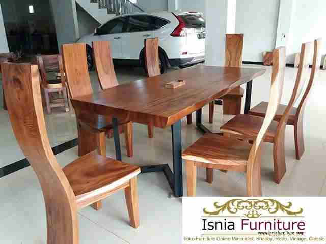 Set-meja-makan-solid-trembesi-8-kursi Set Meja Makan Trembesi Solid 8 Kursi