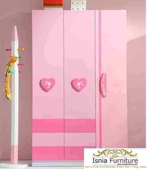 lemari-pakaian-anak-perempuan-pink Lemari Pakaian Anak Tangerang Perempuan Putih Pink Cantik