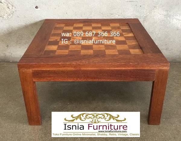 meja-papan-catur-jati-bentuk-kotak-lesehan Meja Papan Catur Kayu Jati Minimalis Solid Terlaris