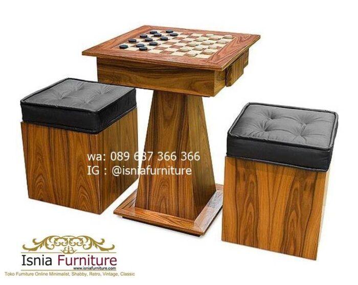 meja-papan-catur-jati-desain-minimalis-unik-terlaris-700x557 Meja Papan Catur Kayu Jati Minimalis Solid Terlaris